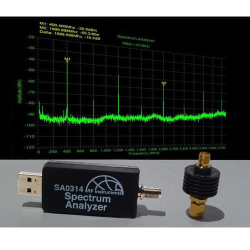 RF Instruments Analizador de Espectro USB 3.3 Ghz