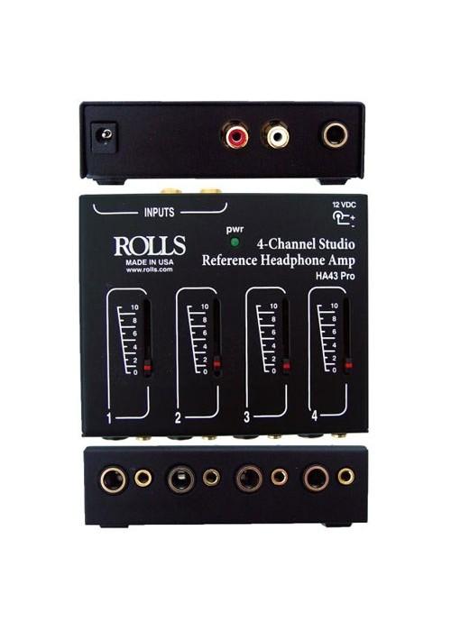Rolls HA43 Pro Distribuidor Amplificador De Fone 4 Canais