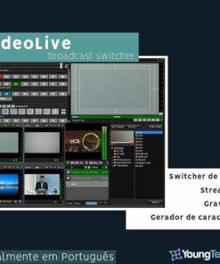 VIDEO LIVE - SWITCHER VIRTUAL PARA A PRODUÇÃO E STREAMING DE AÚDIO E VÍDEO